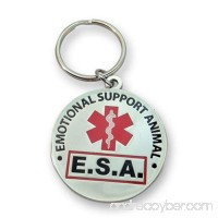 Brand - Official Emotional Support Animal ESA Round Hanging ID Tag - Hang from a Collar Vest Harness or Leash. Great form of identification for small to large emotional support dogs - B00TVMAOH2