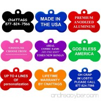 CNATTAGS Bone Pet ID Tags Premium Aluminum 8 Colors to Choose - B0169LZSPU id=ASIN