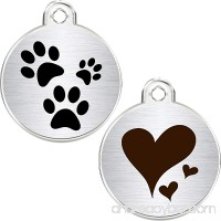CNATTAGS Stainless Steel Pet ID Tags Personalized Designers Round Various Designs - B07DTBBFQ8 id=ASIN