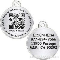 CNATTAGS WEB/GPS QR CODE With APP Smart Pet Tag Stainless Steel Pet ID Tag - 2 IN 1 - Personalized Traditional Tag + Smart Pet Tag - B07B281YGW id=ASIN