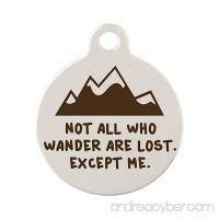 Custom Engraved Not All Who Wander Are Lost Dog Tag by dogIDs - B079PTF8CF id=ASIN