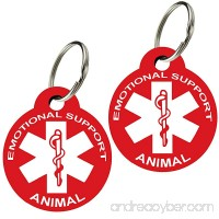 ESA - Pet ID Tags Various Shapes and Colors Doubled Sided Emotional Support Animal Premium Aluminum (Set of 2) - B01NCQYB6V
