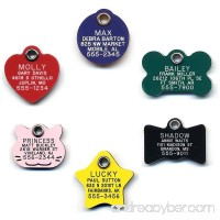 LuckyPet Durable Plastic Pet ID Tag - Outlasts Cheap Aluminum Tags for the Same Price - Custom Engraved - B01CPRFGMM