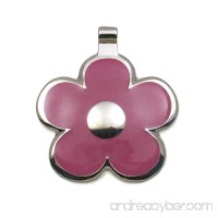 LuckyPet Pet ID Tag - Flower Jewelry Tag - Dog Tag & Cat Tag - Easy to Read Engraving on Back Side - B00564FZCS