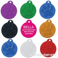 Round Paw Personalized Pet ID Tags | 8 Colors Options | Durable Lightweight Anodized Aluminum | For Cats and Dogs - B00D3JFRT4