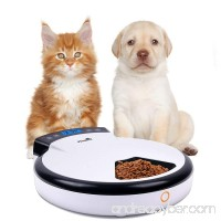 Automatic Pet Feeder with Voice Reminding  Electronic Food Dispenser 5-Meal for Dogs Cats For Dry &Wet Food - B01N2WITQV