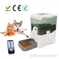 Bartonisen Automatic Pet Feeder Food Dispenser for Cat Dog with Voice Recorder and Timer Programmable - B07B7L67N8