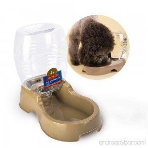 Cat Water Dispenser TIOVERY Automatic Pet Cafe Pet Waterer Food Dish Bowl Feeder Tray for Dogs and Cats - B01M04OE50