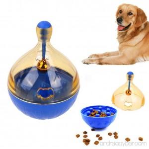 GOKKO Dog Food Dispenser Tumbler IQ Treat Dispensing Toy Snack Feeder Pet Tumbler Toy with Metal Bell - B074DRW26Q