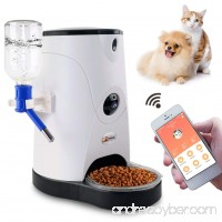 Petbobi Automatic Feeder Pet Food and Water Dispenser with Real-Time HD Night Vision Camera Smart Wi-Fi Control Feeder for Dogs and Cats Large Volume Feeding Pets Controlled by IPhone  Android - B07DXVCXN9