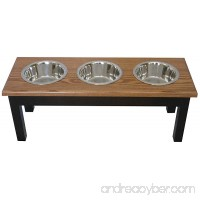 Classic Pet Beds 3-Bowl Traditional Style Ash Pet Diner Large Espresso/Cherry - B009GGWCT6
