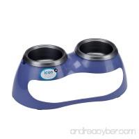 JW Pet Company icon Curve Elevated Feeder Dog Bowl Medium/Large (Colors Vary) - B0036OU534