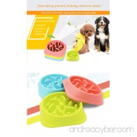 Dog Food Bowl Dish Stop Eating Too Fast Slow Eat Choke Feeder 3 Colors (blue) - B075L2G2SP