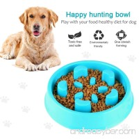 ONSON Dog Bowl Slow Feeder - Fun Feeder Slow Feed Dog Bowl - Interactive Bloat Stop Dog Bowl - Eco-friendly Durable Non Toxic Bamboo Fiber Dog Food Water Bowl Skid Stop Design - B07FRCPTPN