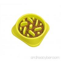 Pevor Slow Feed Dog Bowl Dog Cat Interactive Feeder Anti Slip Gulp Feeder Healthy Bloat Dish For Pet Dog Feeding Tools - B074ZSG527