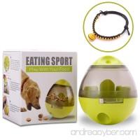 RedStorey Treat Ball Dog Toy for Pet Increases IQ Interactive Food Dispensing Ball With Bonus Pet Collar Bells (Green) - B07C97G1K8