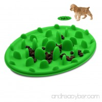 Spring Fever Slow feed Fun Pizza Design Anti-choking Non-slip Silicone Interactive Bloat Stop Dog Pet Bowl - B071KFDJFD