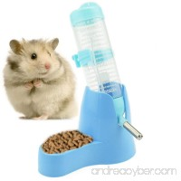 125ml/4.2ozPet Drinking Bottle with Food Container Base Hanging Water Feeding Bottles Auto Dispenser for Hamsters Rats Small Animals Ferrets Rabbits Small Animals - B073VRH7JS