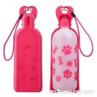 Anpetbest Dog Water Bottle Pink Pet Water Dispenser Drink Bottle for Daily Walks Hiking Camping Beach and on the Go BPA Free Plastic (22 fl oz) - B07BLMBB8H