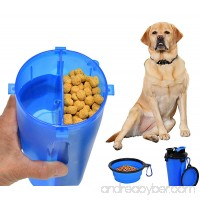 ARAD 2 in 1 Portable Pet Water Bottle and Food Container with Pet Bowl Complete Food Solution Perfect for Travel or Furry Best Friends On the Go - B07C39YYXL