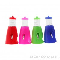 Tangc 2 in 1 Hamster Water Bottle Holder 80ML Dispenser With Base Hut Small Pet Nest (Color random) - B01MSBACXC