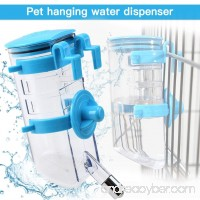 Yitour Dog Collapsible Water Bottle Dispenser-Hanging Water Kettle Automatic Water Drinking Feeder with Stainless Steel Ball for Small/Medium Puppy Animals Kitten/Cat/Rabbit Crate Cage (Blue 350ML) - B07DB4LJ2F