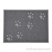 VICTHY Paw Prints Pet Dog Cat Food Feeding PVC Mats Water Bowl Rectangle Placemats - B01HO3A3MK