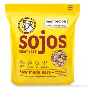 2 PACK (2 lbs x 2) Sojos Complete Raw Natural Dry Dog Food Mix Grain Free Beef - B01C9CQKZ0