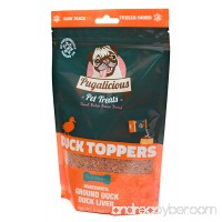 Pugalicious Pet Meal Toppers for Dogs and Cats Freeze Dried 100% Duck Meat and Liver No Added Preservatives All Natural Dog and Cat Food Toppers For all dog types Made in USA (3.5oz/100g) - B077CS7XPD