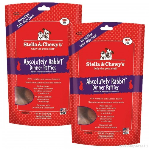 Stella And Chewys Freeze Dried Absolutely Rabbit Dinner Patties Dog