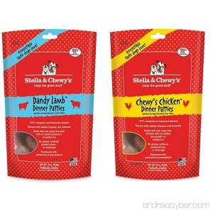 Stella & Chewy's Freeze Dried Super Dandy Lamb & Chicken Dinner Dog Food 2 Pack (30 OZ Total) W/ Hot Spot Pet Food Bowl - Made in USA - B0716X32D1