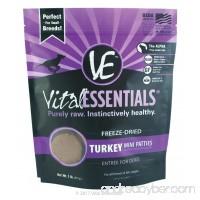 Vital Essentials Freeze-Dried Turkey Mini Patties  1 lb - B00ZWTV36O