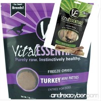 Vital Essentials Freeze-Dried Turkey Mini Patties 1 lb Bag Freeze Dried Raw Dog Food 1-5 Pack Vital Essentials Freeze Dried Bully Sticks Dog Treat Fast - B07D4HTZMH
