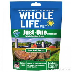 Whole Life Pet Just One-Single Ingredient Freeze Dried Treats for Dogs Pure Duck Breast 3oz - B005RZM3PS
