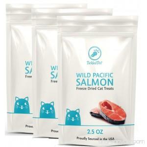 Wild Pacific Freeze Dried Salmon Cat & Dog Treats 2.5oz by TickledPet - B01FV5ZCCO