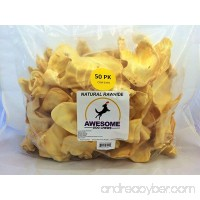 100% Awesome Dog Chews All Natural Cow Ears 50 Count - FDA / USDA Inspected Through a Registered FDA Plant - B01GU7EP8O