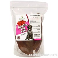 Pet Eden Jumbo Pig Ears for Dogs Made in USA Only All Natural Chews for Large Dogs Free of Additives or Preservatives Great Rawhide Alternative Hickory Smoked 8 Count - B01M069BZG