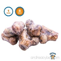 123 Treats Dog Bones - 100% Natural Beef Smoked Knuckles - Premium Meat Bone Chews for Medium to Large Dogs From Free Range Cattle - B01I5NJ42S