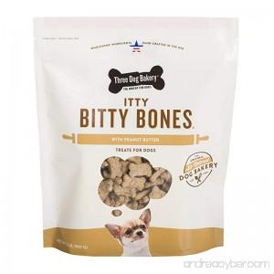Three Dog Bakery Itty Bitty Bones Baked Dog Treats 32 oz - B00AAV6M24